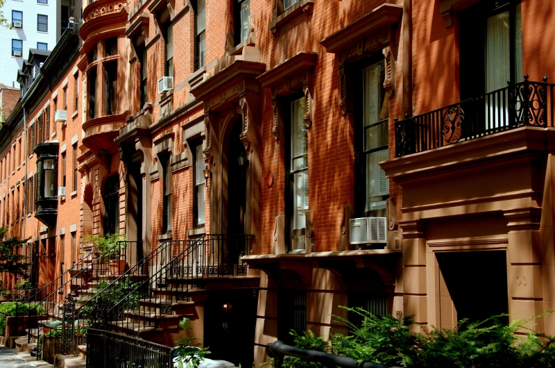 Brownstone-hus i Brooklyn